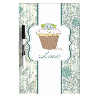 Blue Love Cupcakes Design Dry Erase Whiteboards