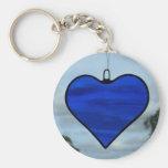 Blue Love Heart Keychain