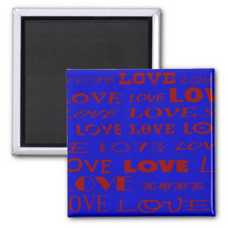 """""""Blue Love"""" magnet by Zoltan Buday"""
