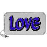 Blue Love Notebook Speakers