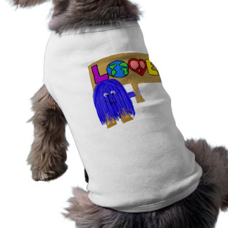 Blue love pet t shirt