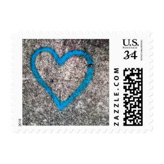 Blue love postage