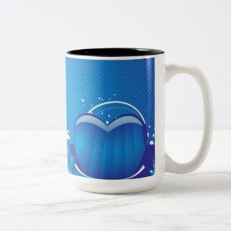 Blue Love Sign Mug