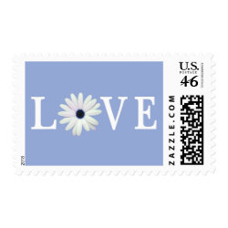 Blue Love stamps stamp