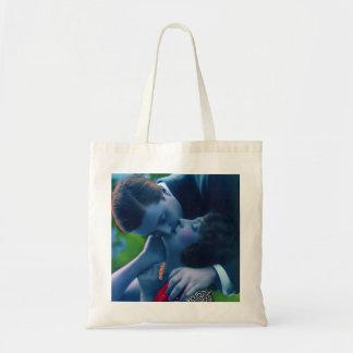 Blue Lovers in Paris Tote Bag