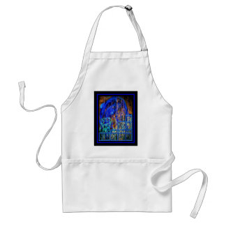 Blue Lovers on Stairs (Adult Content) Adult Apron
