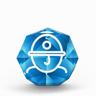 Blue Low Poly Miner Mining Icon Award