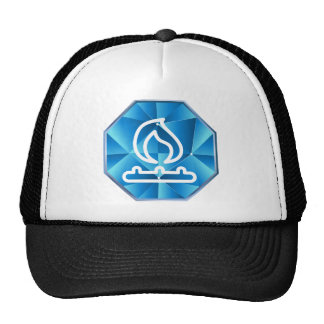 Blue Low Poly Natural Gas Flame Fire Trucker Hat