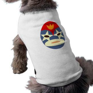 Blue Lucha Libre Mask Pet T Shirt
