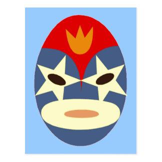 Blue Lucha Libre Mask Postcard