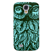 Blue Luck Owl Galaxy S4 Cover