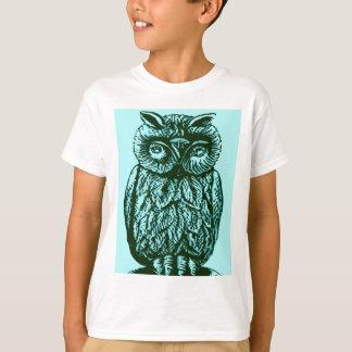 Blue Luck Owl T-Shirt