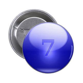 Blue Lucky 7 Pins