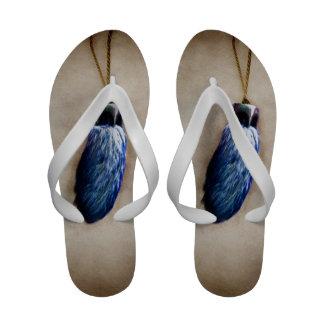 Blue Lucky Rabbit s Foot Sandals