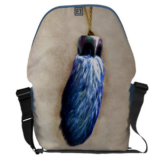 Blue Lucky Rabbit s Foot Courier Bag