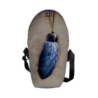 Blue Lucky Rabbit s Foot Courier Bags