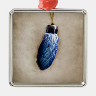 Blue Lucky Rabbit's Foot Christmas Tree Ornaments