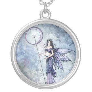 Blue Lumina Fairy Pendant Necklace