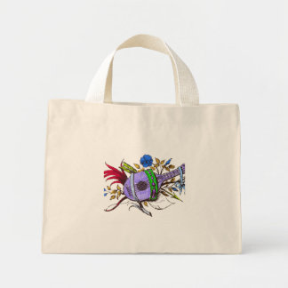 Blue lute and plants bags