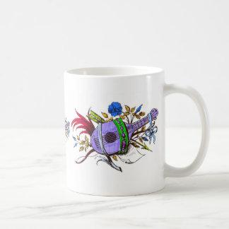 Blue lute and plants classic white coffee mug