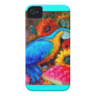 Blue Macaw Slil Life by Sharles iPhone 4 Case-Mate Cases