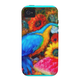 Blue Macaw Slil Life by Sharles iPhone 4 Case