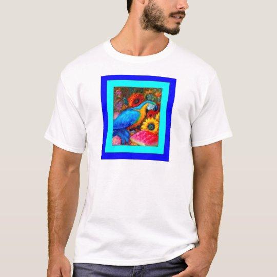 Blue Macaw Slil Life by Sharles T-Shirt