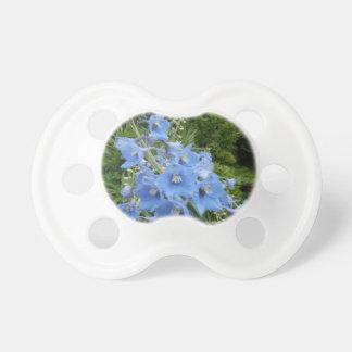 Blue Macro Flower Chupetes De Bebé