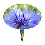 Blue Macro Flower Decoración Para Tarta