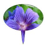 Blue Macro Flower Figuras Para Tartas