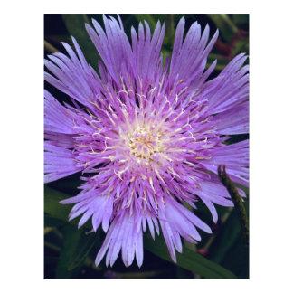 Blue Macro Flower Personalized Letterhead