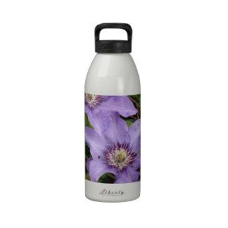 Blue Macro Flower Water Bottle