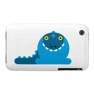 Blue Mad Dragon iPhone 3 Cases