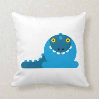 Blue Mad Dragon Pillow
