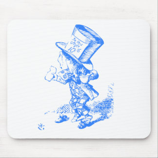 Blue Mad Hatter Mouse Pad