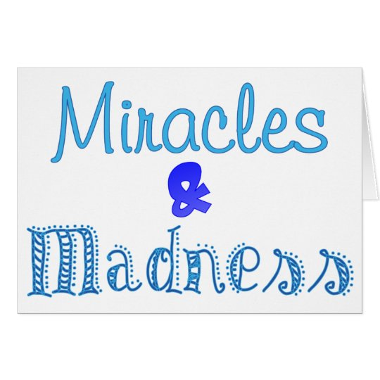 Blue Madness Card