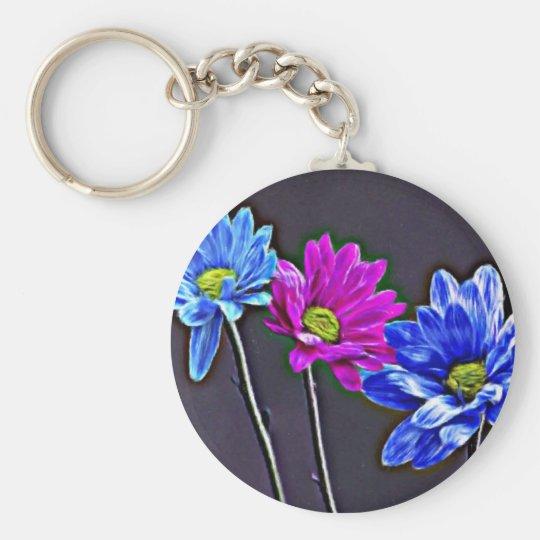 Blue Magenta Keychain