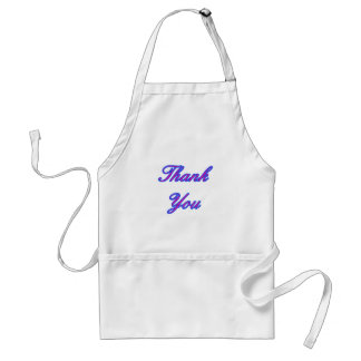 Blue Magenta Thank You Design The MUSEUM Zazzle Gi Adult Apron