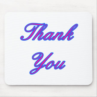 Blue Magenta Thank You Design The MUSEUM Zazzle Gi Mouse Pad