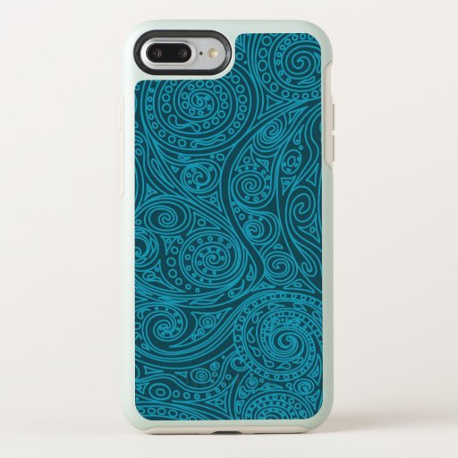 Blue Magic Spiral Pattern OtterBox Symmetry iPhone 8 Plus/7 Plus Case