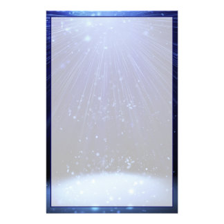 Blue Magical Christmas Stationery