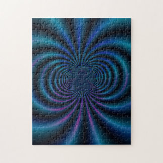 Blue Magnetic Field Fractal Puzzle