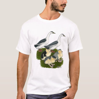Blue Magpie Duck Family T-Shirt