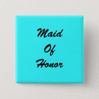 Blue Maid Of Honor Pin