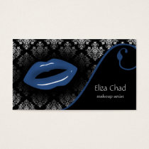 blue Makeup artist Business Cards