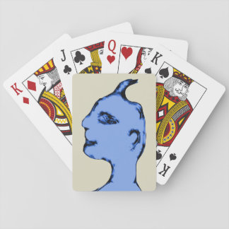 Blue Male Alien Playing Cards