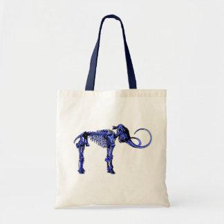 Blue Mammoth Skeleton Canvas Bag