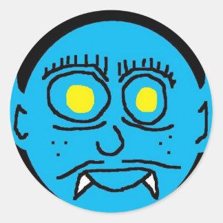 Blue Man (2) Round Sticker