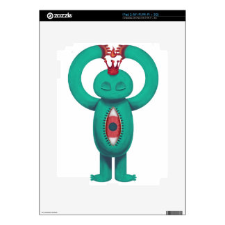 Blue man flame king skin for the iPad 2