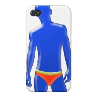 Blue Man in Underwear Phone Case iPhone 4 Covers